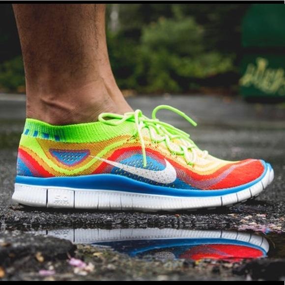 buy popular 58c7c eeff2 Nike Run Free FlyKnit 5.0 rainbow size 12. M 5aa070f405f43068928a9b45